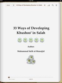 33 Ways of Developing Khushoo' in Salah